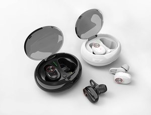 Binaural Bluetooth 5.0 headset bass stereo waterproof headphone Binaural separation with automatic charging box HD voice sport denoise
