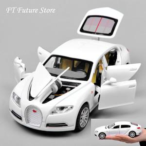 Ucuz 01:32 Bugatti Galibier Veyron Araba modles Alaşım Döküm Modelleri Brinquedos Koleksiyonu Pull Geri Çocuk Oyuncakları Hediyeler görüntüler T200110