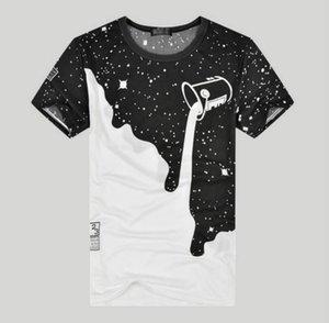 New Mens Summer Tees Plus Size O-neck Short Sleeve T Shirt Milk Printed Cotton T-shirt 3D Designer Clothing M-XXL Golf Tshirt Y22 B70