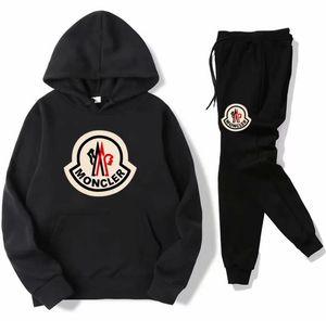 NUOVO Set Sweatsuit progettista Tuta donne uomini felpe con cappuccio + pantaloni Abbigliamento Uomo Felpa Pullover Casual Tennis Sport Tute Sweat Suits