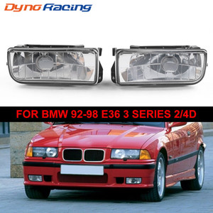 Para BMW E36 Serie 3 92-98 2 / reemplazo 4d Faros de Niebla lámparas de cristal de la lente del claro Sin Blubs
