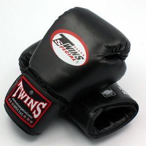8 10 12 14 oz التوائم قفازات ركلة قفازات الملاكمة الجلود بو ساندا الرمل حقيبة التدريب الأسود الملاكمة قفازات الرجال النساء غواتير الملاكمة التايلاندية