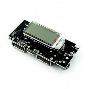 Dual Usb 5 В 1a 2.1a Мобильный Банк Питания 18650 Зарядное Устройство Pcb Модуль Питания Аксессуары Для Телефона Diy Новый Led ЖК-Модуль Платы