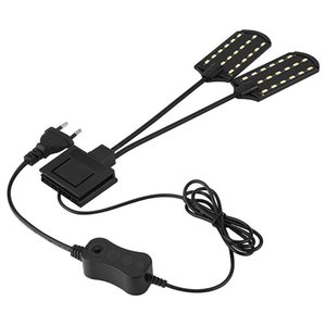 EU Plug Aquarium Led Lighting 220V Waterproof Clip-on Lamp 15W LED Aquarium Light Plants Grow White Color Lighting