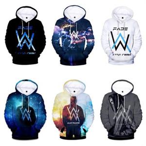 Kış Polar Sweatshirt Alan Walker Hoodie Erkekler İşaret Baskı Hip hop Kaya Yıldız Fleece Band Kapüşonlular Erkekler Ypf563 sweatshirt'ü Soluk
