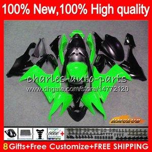 Körper für KAWASAKI ZX1000C ZX10R ZX10R 08 09 10 Karosserie 45HC.59 ZX 10R 1000CC hellgrün ZX1000 ZX 10 R 2008 2009 2010 Voll Fairings Kit