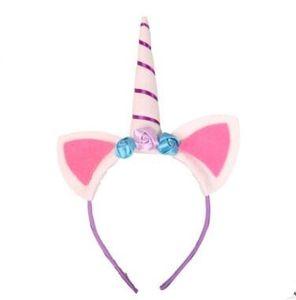 Joyas para animales Unicornio Cuernos Accesorios para el cabello Hairband Para Mujeres Niños Traje Tocado Moda Tela Joyería Cabello Gota Nave 120012