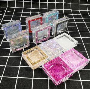 Bling ciglia ciglia diamante della scatola Glitter Eye Imballaggio Confezione falsa falsa ciglia Caso Eye Lashes plastica Scatole GGA3458