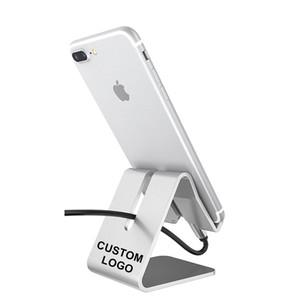 Рекламный пользовательский ваш собственный логотип металлический алюминиевый сплав телефон держатель зарядки стойки настольный подставка для iPhone 12 Mini Pro Max
