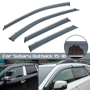 4 pcs Janela Do Carro Sun Visor Guarda Chuva Defletor de Vento Para Subaru Outback 2015 2016 2017 2018