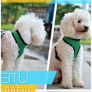 Pet Mesh Собака Harness Собака Harness жилет спортивный костюм Маленький Средний Собаки Кошки Нагрудный Pet Одежда BBA3