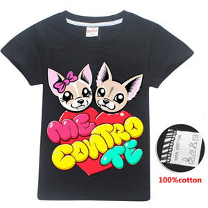 ME CONTRO TE Cute Dogs Printed kids T-shirts 4 Colors 6-14t girls 100% cotton t shirt kids  clothes girls SS300