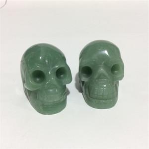 2inches en gros de haute qualité naturelle Aventurine crâne Forme des pierres en cristal sculpté à la main Palm pour le présent ou Collection