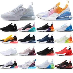 Nike Air max 270 Mit Socken NEW LUXURY atmungsaktiv Herren Damen Laufschuhe BE TRUE Triple Black USA Lötzinn Tiger Volt Orange Sterne Navy Blue Sport Sneakers