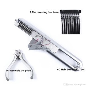 6D Human Hair Extension Machine Connector With Hair Remove Piler No-trace Quick Kit Salon Natural Real Keratin Wig Style Tool