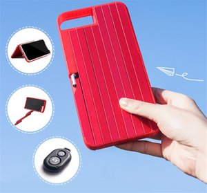 2 in 1 Stickbox caso di telefono cellulare Sticks selfie Bluetooth Remote Shutter conveniente moda Fold Mobile Shell per i 6 7 8 più X 6s
