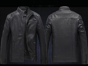 Mens Designer PU Vestes en cuir pour hommes en faux manteaux de fourrure Vestes épais manteau Slim Casual Streetwear Vintage Hommes Haute Qualité