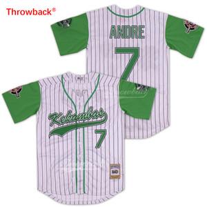 Custom Herren Anre 7 Kekambas PinTraped Baseball Jersey Archa und Duffys Patches Movie Jerseys Hardball Stickerei Jeder Name Jede Nummer
