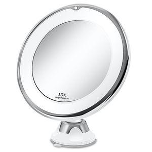 Makeup Vanity Espelho com 10X Luzes LED portátil Dropshipping Lighted VIP Mão Cosmetic Ampliação Light Up Mirrors