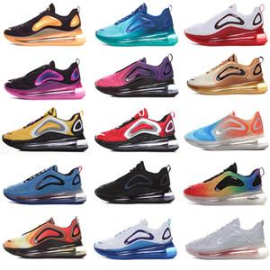العلامة التجارية الرجال النساء 720 أحذية كن سادة صحيح 72C حجر السج فولت الثلاثي الأبيض أسود لامع البلاتين الليزر الوردي للرجال الهواء Zapatos Chaussures