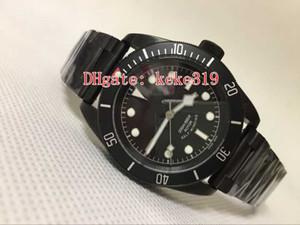 Mükemmel Yüksek kaliteli erkek saatı 79230DK_Silver 41mm Seramik Bezel Siyah PVD Kaplama Otomatik mekanik Erkek İzle Saatler