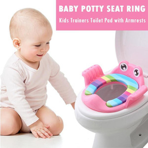 Aseo de bebé Potties niños ir al baño seguro con Brazos de Gril Boy Formadores cómoda de tocador de gran tamaño del anillo infantil Pottyreg