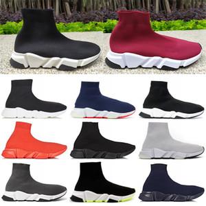 Для женщин Mens высокого Носок обуви дизайнер Speed Trainer платформы вскользь тапки Luxury Party ботинки моды мадам Chaussures США 5-11