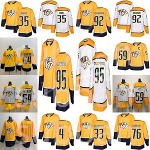 2019 Nashville Predators Jersey 95 Matt Duchene 9 Filip Forsberg 59 Roman Josi 92 Ryan Johansen 35 Pekka Rinne Hockey Jerseys