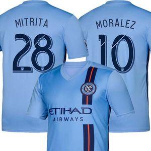 NYCFC 2019 New York City em casa 19 20 MLS Lampard PIRLO MCNAMARA Moralez David Villa camisas 7 futebol Jersey futebol