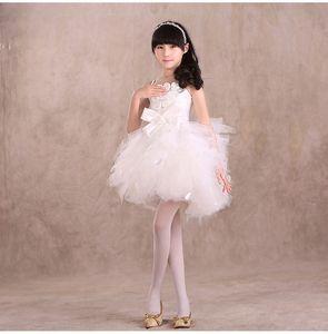 Encantadora princesa Dance Performance Dress Kids Pageant Flower Girl Dress Girls Party Prom Cumpleaños Bodas Vestido de niños ST98