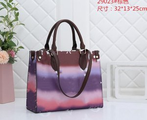 2020 foreign trade simple and fashionable women's shoulder bag bucket bag printing color drawstring, sufficient supply, leading the fashion