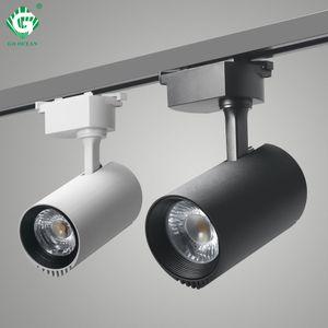 LED Track Light 20W Noir Cob Track Lights Plafonnier Lampe 200-240V Pour Magasin De Vêtements Maison Éclairage De Nuit Spot Rail Fixture Rail Spotlights
