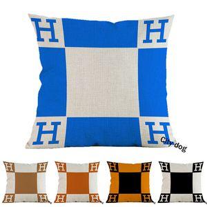 """18"""" Square Home Decor Cushion Cover Pillow Geometric english alphabet arrow bottle Cotton Linen decoration 45*45CM Pillowcase Cases"""
