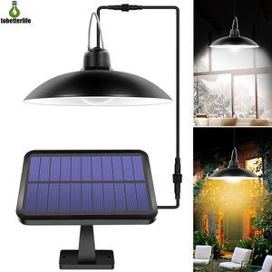 Solar Shed Lichter Outdoor Indoor 16 LED-Solarpendelleuchte für Camping Wasserdichte Beleuchtung für Garten-Yard-Dekoration Fernbedienung