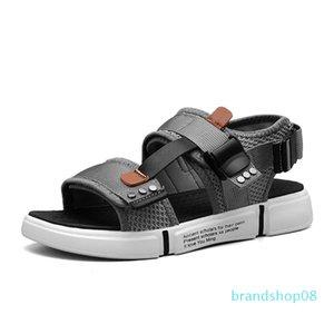 Zapatos de la venta caliente-hombre de la manera playa al aire libre de los hombres romana tirón zapato casual Flops zapatillas plana Sorrynam