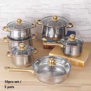 5pots Набор посуды Кастрюли и сковородки Кастрюли из нержавеющей стали Набор посуды Кухня Горшки Металл cookong наборы
