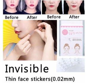 40 pc / insieme invisibili Adesivi viso sottile facciale linea antirughe rilassamento cutaneo V-Shape Face Lift scotch per Face