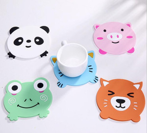 2019 Hot Irregular Silicone Coasters Cute Frog panda Button Coasters Cup Mat Home Drink Placemat Tableware Coaster
