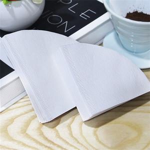 Bolsa de filtro de café en forma de cono 50 piezas de café preparado a mano Filtros Bolsas de papel Papeles de café en polvo Nueva llegada 8nb L1