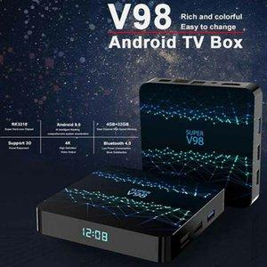 Android TV Box Super V98 Rockchip 3318 Quad-core 4k Smart TV Box 2+16 4+32GB with WiFi BT4.0 Streaming Media Player tx6