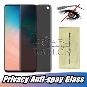 Privacy Anti-spay Case Friendly 3D Curve Edge Tempered Glass Phone Screen Protector Film For Samsung Galaxy S10 S10E S9 S8 Plus Note 10 9