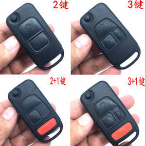 1 2 3 4 Button Flip Folding Car Shell Remote Key Fob Case For Mercedes Benz SLK E113 A C E S W168 W202 W203 1984-2004