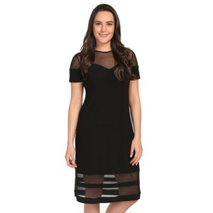 Pianola Organized by the Women's Large Size Dress Black Tulle Detail 1238 Ship from Turkey 384