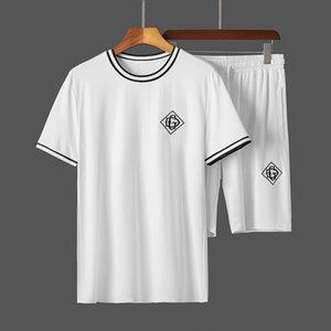 brand 2020 NEWST Designer Luxury Mens Tracksuits Summer T-shirt+Pant Sportswear Casual Sets Short Sleeve Medusa men tracksuit track suit