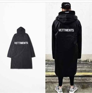 2019new мужские Vetements и дождь пальто Канье Уэст бомбардировщик куртка женщин длинные толстовки мужчины хип-хоп Сверхразмерные бренд Clothes5d56#