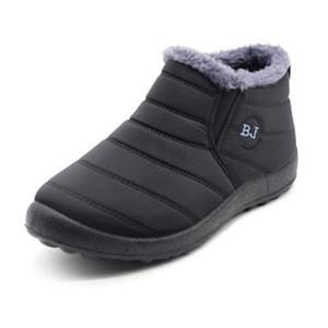 2020 New Men Boots Fashion Winter Boots For Men Fur Winter Snow Boots Plush Mans Footwear Warm Waterproof Men Shoes Plus Size