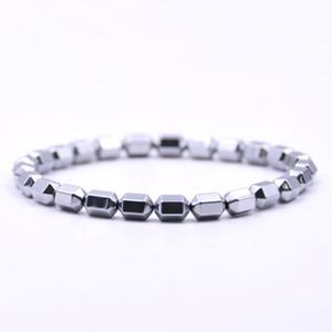 2019 Nouveau design Hommes Bracelet Hématite Santé Luxe Bracelets de perles Bracelets pour femmes Bijoux pour hommes cadeau Pulseira