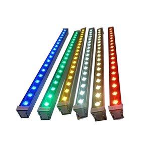 CRESTECH LED Outdoorlight Wall Washer AC85-265V 24V 18W 24W 36W RGB LED Wall Washer Para muitas cores