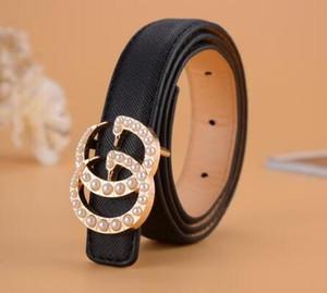 Cinturones para niños nueva perla de la hebilla de la manera del estilo ocasional de los muchachos muchachas de la correa del bebé Carta PU de la hebilla Cinturones de cuero para niños 80cm