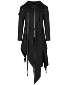 SFIT Uomini manica lunga Steampunk vittoriana Giacche Cintura gotica a coda di rondine Coat Cosplay Vintage Halloween lungo CJ191128 Uniform